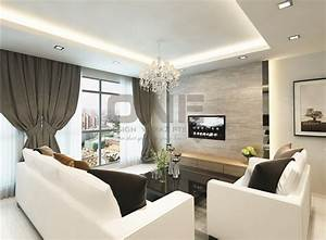 Hdb living dining for Interior decoration in living room photos