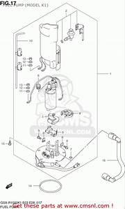 Suzuki Gsx-r1000 2001-2002  Usa  Fuel Pump  Model K1