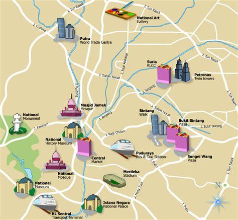 metro map kuala lumpur city maps
