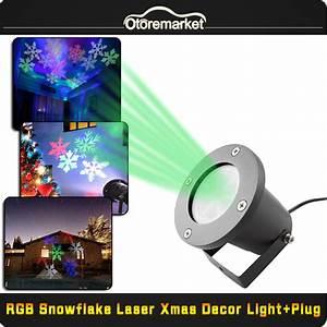Outdoor multi color snowflake led landscape laser light