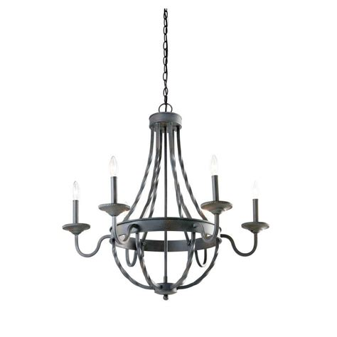 rustic chandelier lighting hton bay barcelona 6 light rustic iron chandelier