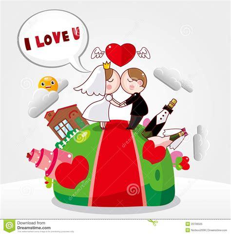 cartoon wedding card royalty  stock photo image