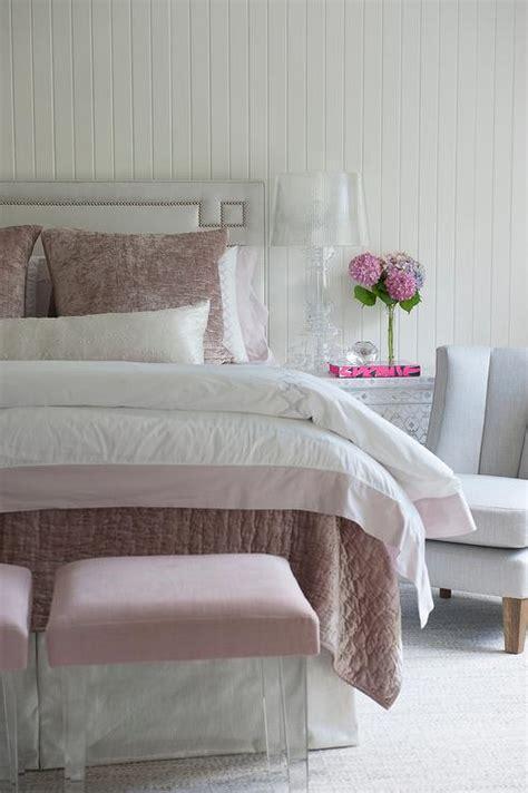 light pink and grey bedding light gray greek key headboard with pink bedding
