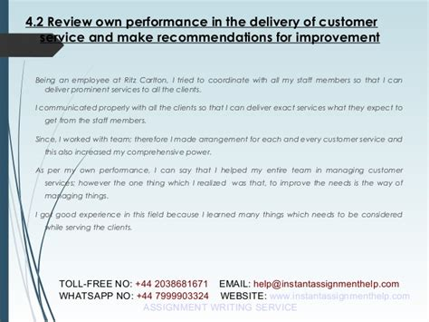 customer service sample assignment instant assignment