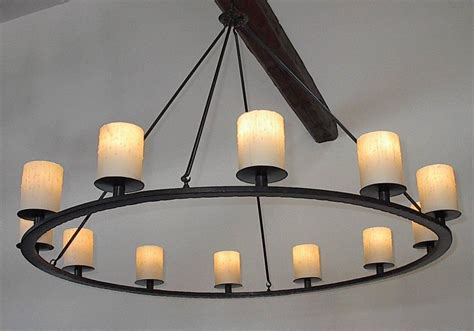 Two Tier Wrought Iron Chandelier