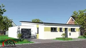 Bungalow Mit Pultdach : pultdach bungalow ambiente 105 schl sselfertig bauen bsa ~ Lizthompson.info Haus und Dekorationen