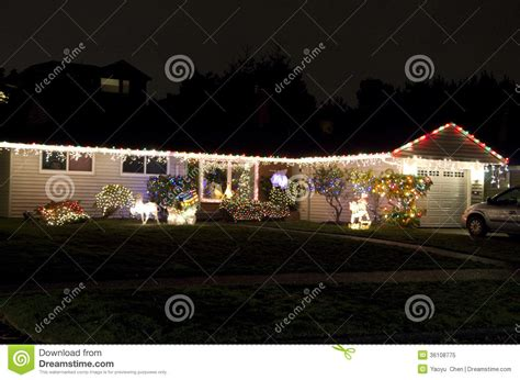 christmas lights house home royalty free stock photo image 36108775