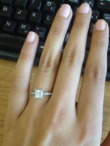 Pictures of your PRINCESS CUT DIAMOND engagement rings ...