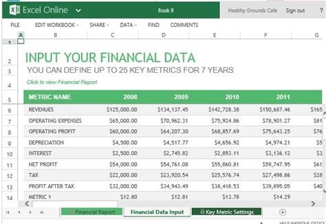 financial report template annual financial report template for excel