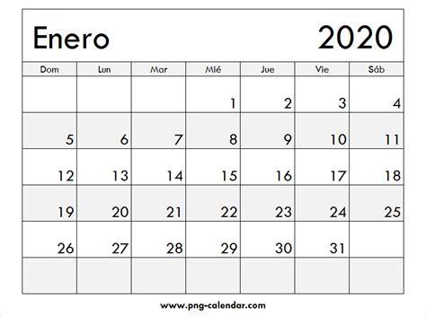 enero calendario imprimir spanish calendar