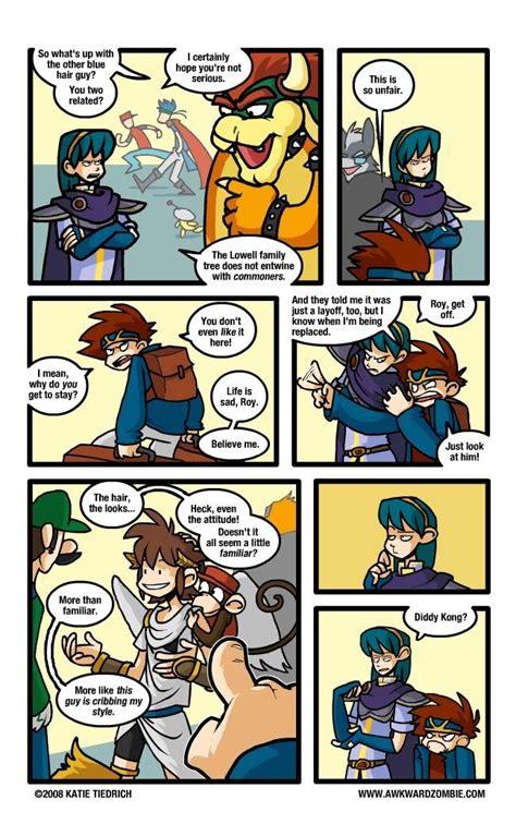 awkward smash super zombie bros comics pit roy kid comic katie brawl icarus fire emblem tiedrich funny marth photobucket memes