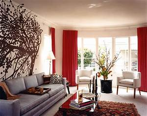 decorations ideas interior design ideas latest home With gray and red living room interior design