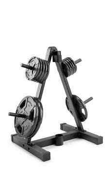 weider weight plate  barbell storage rack compact
