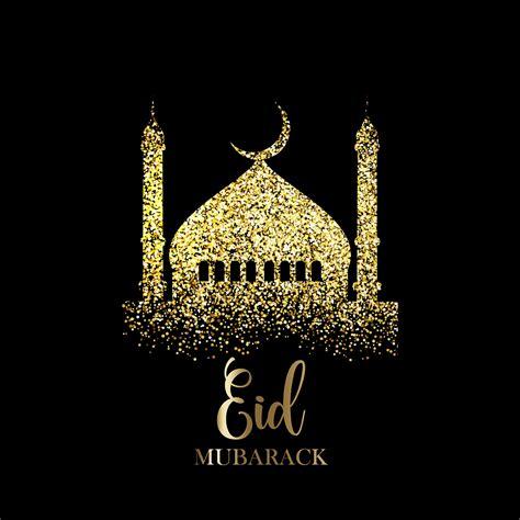 glitter eid mubarak background   vectors