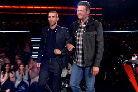 blake shelton voice adam levine mocks blake shelton in new voice promo