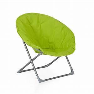 Salon De Jardin Pliant : fauteuil de jardin pliant vert anis moon d coration ~ Dailycaller-alerts.com Idées de Décoration