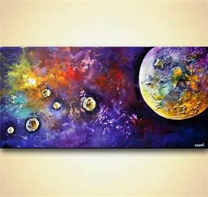 Prints painting - planets abstract painting textured #7969