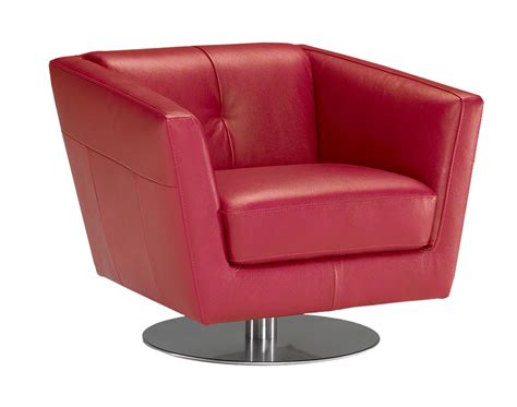 Red Italian Leather Armchairs From Natuzzi