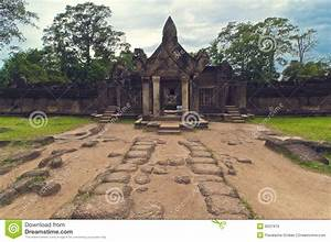 Outside View Of Banteay Srey.Cambodia Royalty Free Stock ...