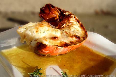 recette de cuisine équilibré queue de langouste grillée au four sauce au vieux pineau