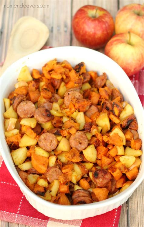 Here's how to make it. One-Pan Paleo Chicken Apple Sausage & Sweet Potato Skillet