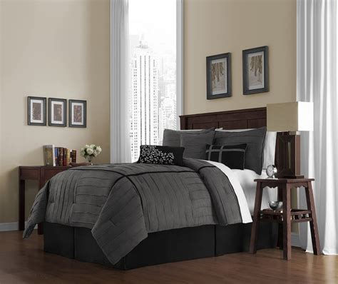 gray bedroom set charcoal grey comforter bedding sets