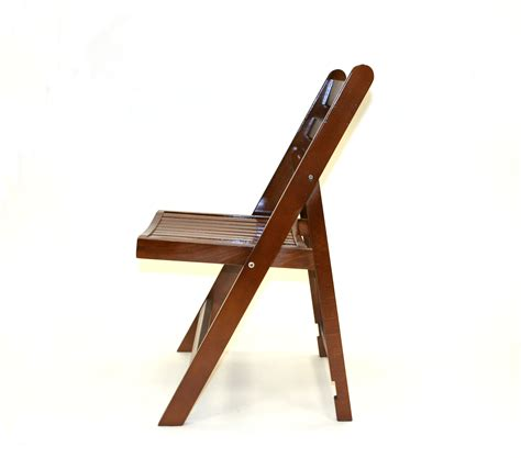 brown wooden folding chair cafes events gardens