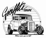 Rod Coloring Drawings Ford Pages Drawing Cars Rods Magazine Truck Street Monster American Graffiti Trucks Cartoons Line Garage Cartoon Clipart sketch template