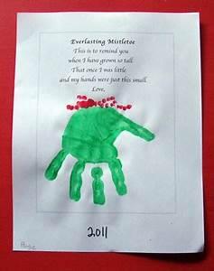 Everlasting Mistletoe Parent Hand Print Gift