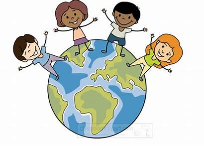 Animated Students Animation Multicultural Geography Education Clipart