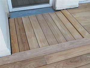 terrasse en bois ou carrelage agrable carrelage plage With comment faire une terrasse en carrelage