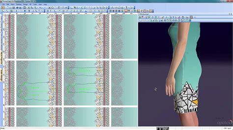 optitex printed fabric tool  fashion apparel design