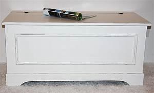 Wäschetruhe Holz Weiß : massivholz truhe holztruhe w schetruhe sitztruhe 44x98 holz massiv wei vintage ~ Indierocktalk.com Haus und Dekorationen