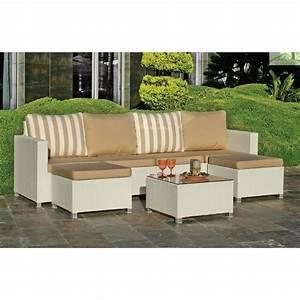 salon de jardin avec table basse 4 fauteuils 2 repose With tapis de marche avec canapé avec accoudoir amovible