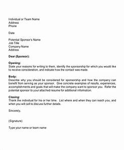7 sports sponsorship letter samples sample templates With sponsorship letter template for sports team