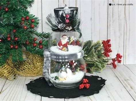 dollar tree snow globe decoration ps  love  crafts