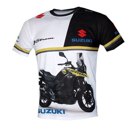 t shirt suzuki suzuki v strom t shirt with logo and all printed