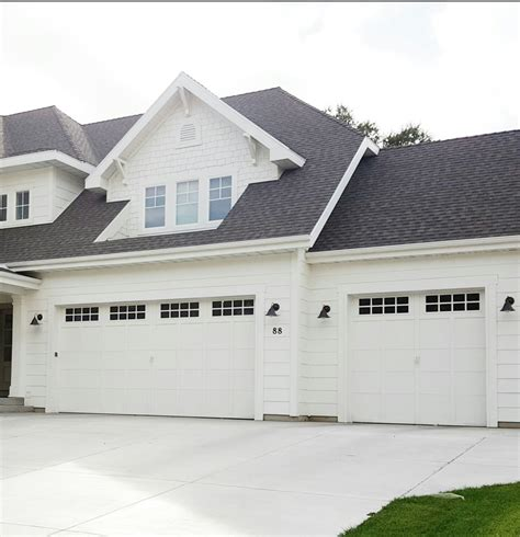 White Garage Doors by Garage Door Options All White House Black Roof White