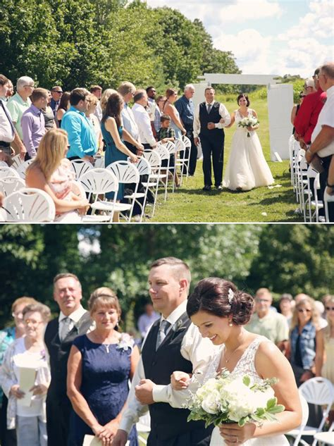felicia brian breezy summer wedding  cady acres