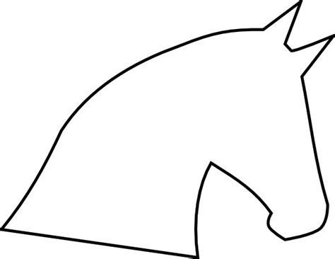 horse head outline fontsprintables pinterest