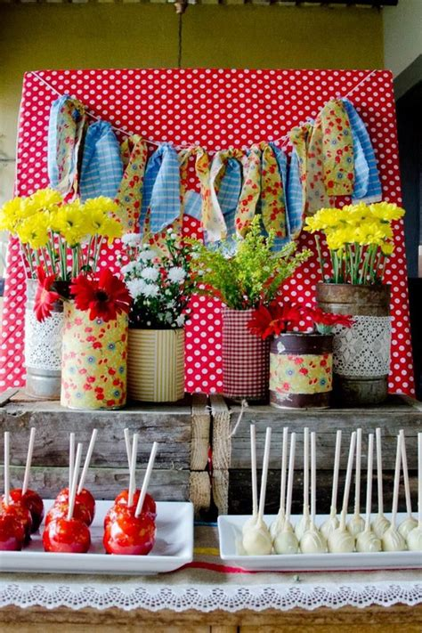 ideas  decorar mesas de postres en fiestas infantiles