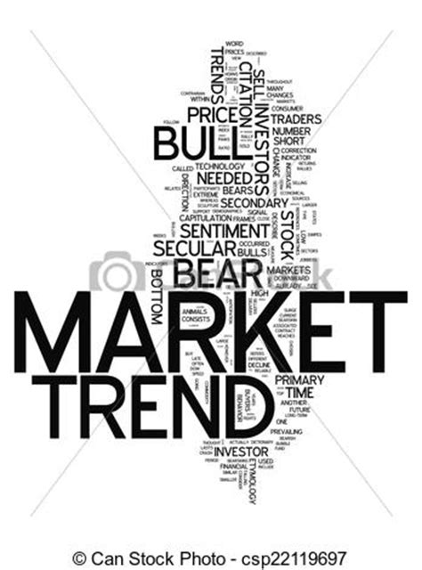 Stock Illustration Of Word Cloud Market Trend  Word Cloud