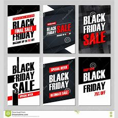 Set Of Black Friday Sale Banners Special Offer, Discount Up To 75% Off, Shop Now, Ultimate Sale