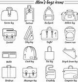 Bags Laptop Icons Clip Illustrations Arts sketch template