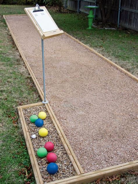 Backyard Bocce Court Dimensions by Build An Outdoor Bocce Court Hgtv