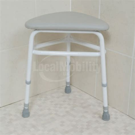 homecraft corner shower stool with padded seat local