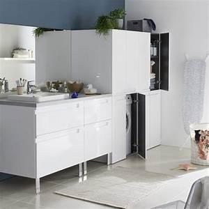 Comment Cacher Un Wc Dans Une Salle De Bain : cacher un lave linge dans une salle de bain joli place ~ Melissatoandfro.com Idées de Décoration