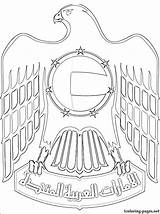 Coloring Pages Emirates Arab United Falcon Uae National Flag Classroom Arms Coat Sketch Drawings Sheikh Creative Colouring Drawing Clipart Dubai sketch template