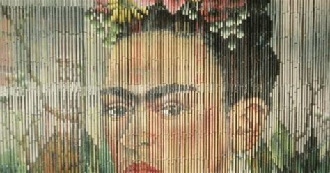 Bamboo Curtains, Painted Curtains And Frida Kahlo Hawaiian Print Window Curtains 100 Polyester Washing Instructions Blue And Yellow French Country Bedroom Sheer 96 Small Size Curtain Rods Blackout Sheers Pictures Shower Rod Oval Tub