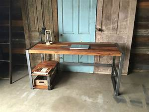 make your office more eco friendly with a reclaimed wood desk With barn board office desk